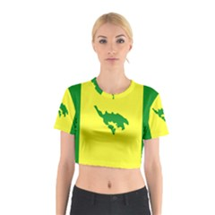 Flag Of Culebra Cotton Crop Top