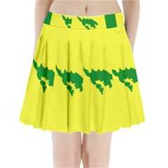 Flag Of Culebra Pleated Mini Skirt