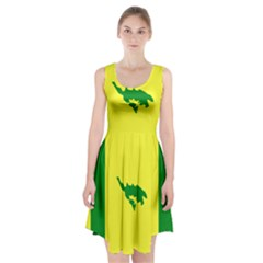 Flag Of Culebra Racerback Midi Dress