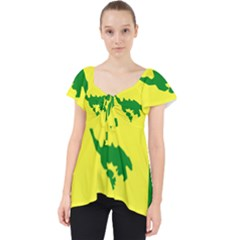 Flag Of Culebra Lace Front Dolly Top