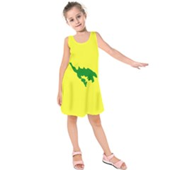 Flag Of Culebra Kids  Sleeveless Dress