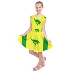 Flag Of Culebra Kids  Short Sleeve Dress