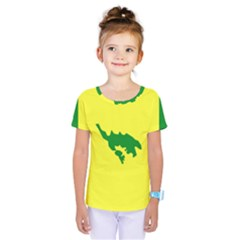 Flag Of Culebra Kids  One Piece Tee