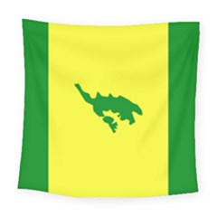 Flag Of Culebra Square Tapestry (large)