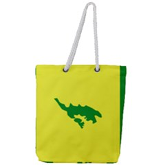 Flag Of Culebra Full Print Rope Handle Tote (large)