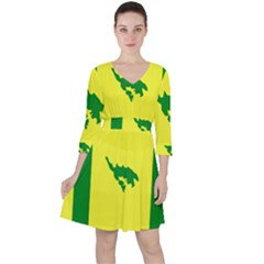 Flag Of Culebra Ruffle Dress