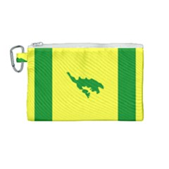 Flag Of Culebra Canvas Cosmetic Bag (medium)