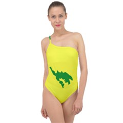 Flag Of Culebra Classic One Shoulder Swimsuit