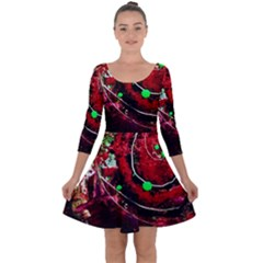 Bloody Coffee 5 Quarter Sleeve Skater Dress