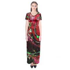 Bloody Coffee 5 Short Sleeve Maxi Dress