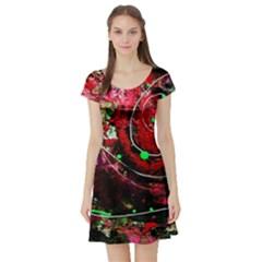Bloody Coffee 5 Short Sleeve Skater Dress