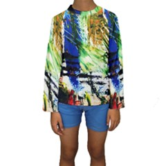 Alaska Industrial Landscape Kids  Long Sleeve Swimwear
