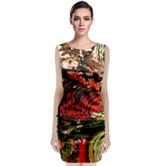 Alaska Industrial Landscape 4 Classic Sleeveless Midi Dress
