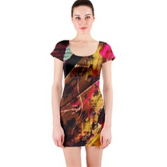 Absurd Theater In And Out 5 Short Sleeve Bodycon Dress