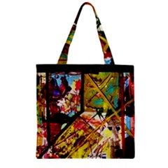 Absurd Theater In And Out Zipper Grocery Tote Bag by bestdesignintheworld