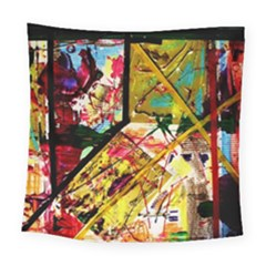 Absurd Theater In And Out Square Tapestry (large)
