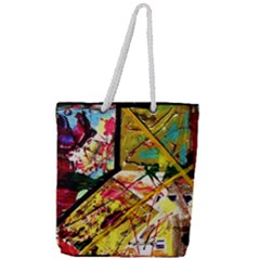 Absurd Theater In And Out Full Print Rope Handle Tote (large) by bestdesignintheworld