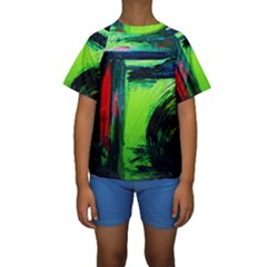 Abandoned Mine 6 Kids  Short Sleeve Swimwear