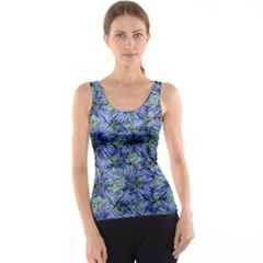 Modern Nature Print Pattern 7200 Tank Top