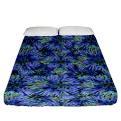 Modern Nature Print Pattern 7200 Fitted Sheet (california King Size)