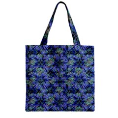 Modern Nature Print Pattern 7200 Zipper Grocery Tote Bag