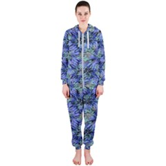 Modern Nature Print Pattern 7200 Hooded Jumpsuit (ladies)