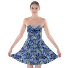 Modern Nature Print Pattern 7200 Strapless Bra Top Dress