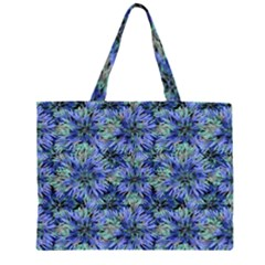 Modern Nature Print Pattern 7200 Zipper Large Tote Bag by dflcprints