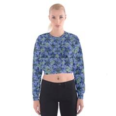 Modern Nature Print Pattern 7200 Cropped Sweatshirt