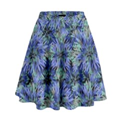Modern Nature Print Pattern 7200 High Waist Skirt