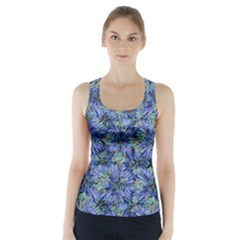 Modern Nature Print Pattern 7200 Racer Back Sports Top