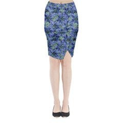 Modern Nature Print Pattern 7200 Midi Wrap Pencil Skirt