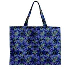 Modern Nature Print Pattern 7200 Zipper Medium Tote Bag