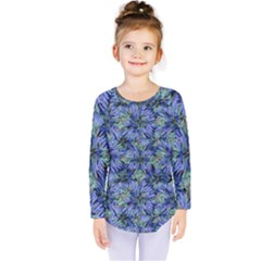 Modern Nature Print Pattern 7200 Kids  Long Sleeve Tee