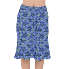Modern Nature Print Pattern 7200 Mermaid Skirt