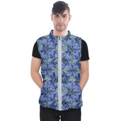 Modern Nature Print Pattern 7200 Men s Puffer Vest