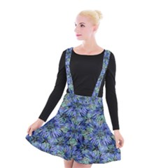Modern Nature Print Pattern 7200 Suspender Skater Skirt