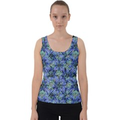 Modern Nature Print Pattern 7200 Velvet Tank Top