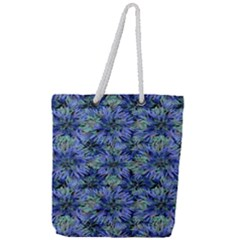 Modern Nature Print Pattern 7200 Full Print Rope Handle Tote (large)