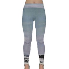 Flipflopgreen Line 12%22 X 12%22 Oil On Canvas Classic Yoga Leggings