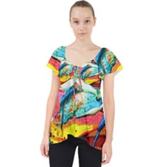 Aerobus Lace Front Dolly Top