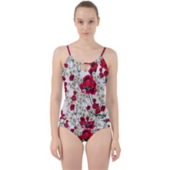 Poppy And Daisy Print Cut Out Top Tankini Set
