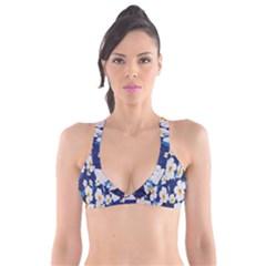 Anemone Print Plunge Bikini Top