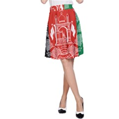 Flag Of Afghanistan A Line Skirt