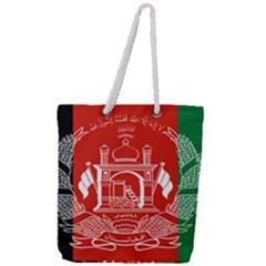 Flag Of Afghanistan Full Print Rope Handle Tote (large)
