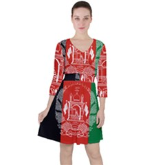 Flag Of Afghanistan Ruffle Dress