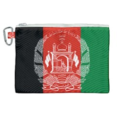 Flag Of Afghanistan Canvas Cosmetic Bag (xl)