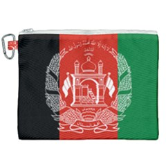 Flag Of Afghanistan Canvas Cosmetic Bag (xxl)