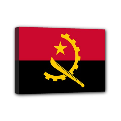 Flag Of Angola Mini Canvas 7  X 5