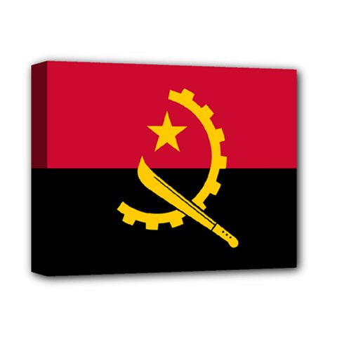 Flag Of Angola Deluxe Canvas 14  X 11